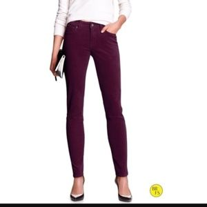 🌿Banana Rebuplic Skinny Fit Corduroy Purple Pants
